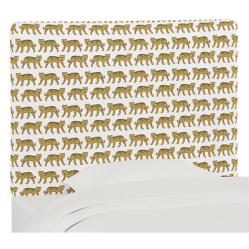 Jordan Headboard, Cheetah White