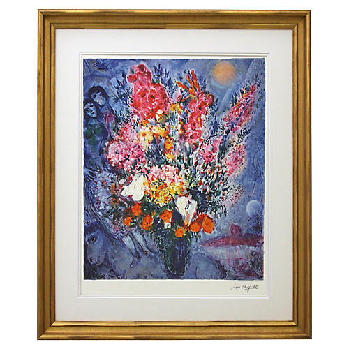 Marc Chagall, Blue Bouquet