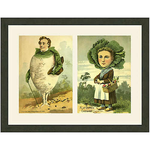 Whimsical Vegetable Couple, 1900