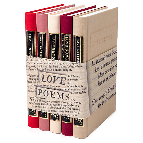S/5 Love Poems Book Set