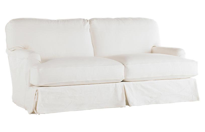 Dover Slipcovered Sofa, White