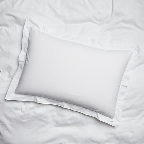 S/2 Nap Percale Shams, White