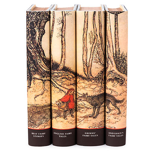 S/4 Collectors Library Fables Book Set