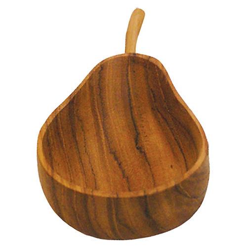 Teak Pear Bowl, Natural