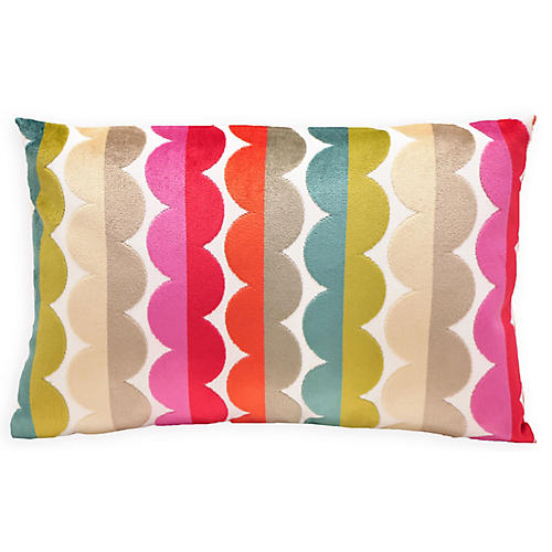 Grace 16x24 Velvet Pillow, Multi