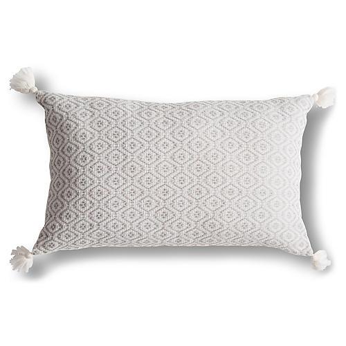 Cojin 13x20 Pillow, Light Gray
