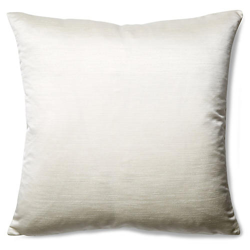 Moonstruck 22x22 Throw Pillow, White