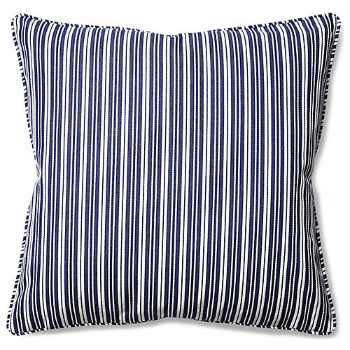 Payton 22x22 Throw Pillow, Blue/White