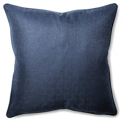 Barclay Butera Basketry 22x22 Throw Pillow Navy One Kings Lane