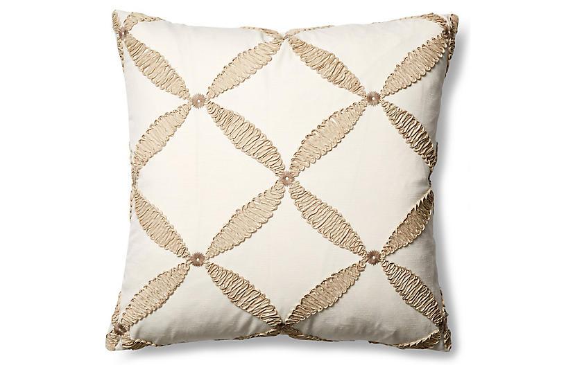 Windward 22x22 Throw Pillow, Sand