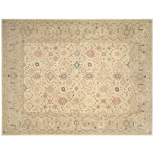 "9'11""x13'6"" Egyptian Sultanabad Rug, Beige/Multi"