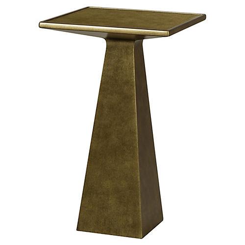 Carter Side Table, Gold Leaf