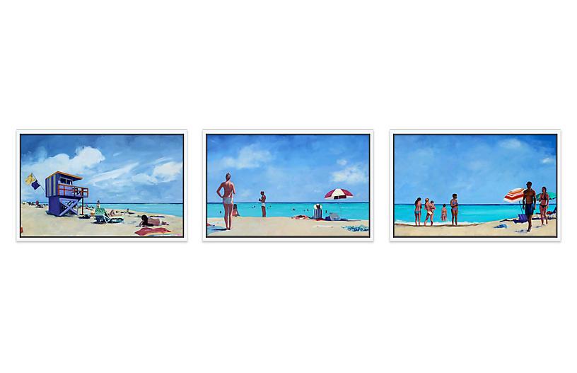 T.S. Harris, Beach Day Triptych