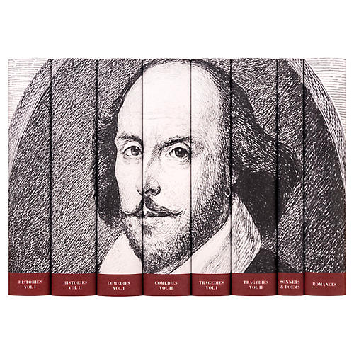 Asst. of 8 William Shakespeare Portrait Books
