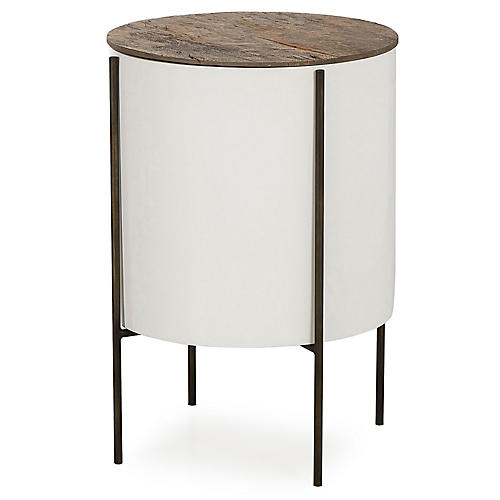 Danica Tube Side Table, Natural