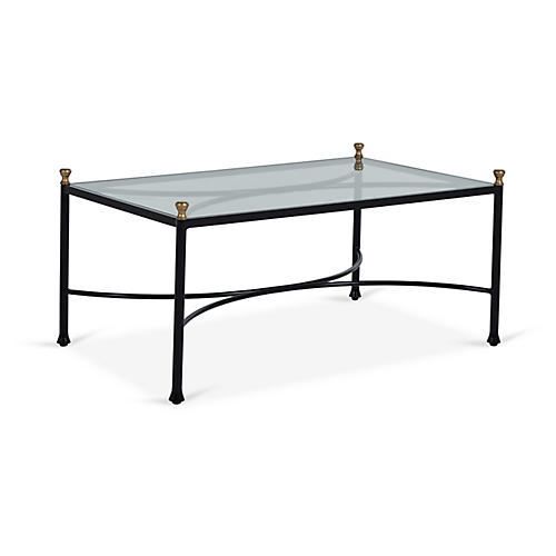 Frances Coffee Table, Black/Antiqued Gold
