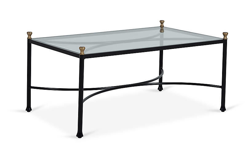 Frances Coffee Table, Black/Antique Gold
