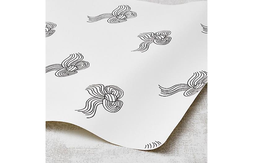 Clare V Bows Wallpaper, Onyx