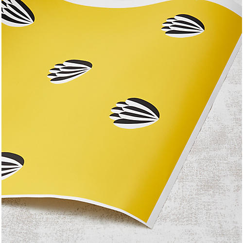 Clare V Lotus Wallpaper, Yellow