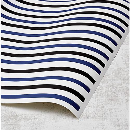 Clare V Stripes Wallpaper, Onyx