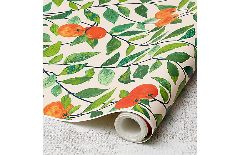 Nathan Turner Orange Crush Wallpaper, Peach