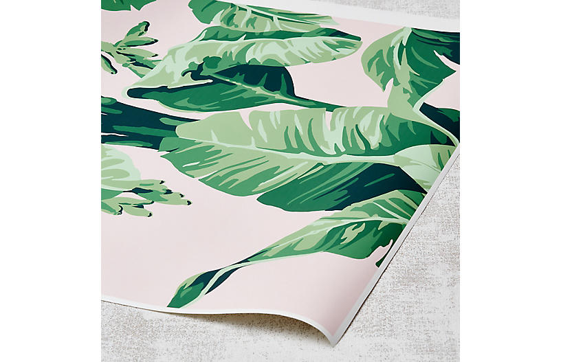 Nathan Turner Pacifico Palm Wallpaper, Piggy Bank/Green