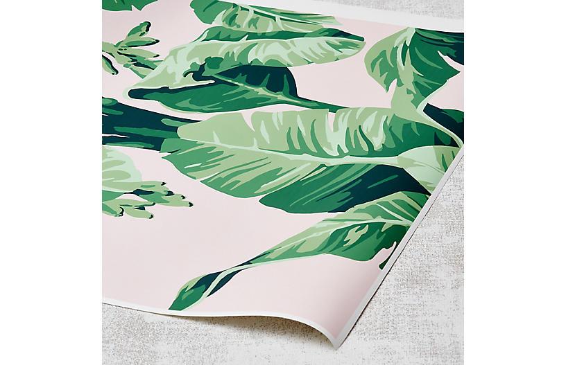 Nathan Turner Pacifico Palm Wallpaper, Piggy Bank/Green