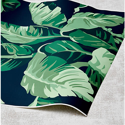 Nathan Turner Pacifico Palm Wallpaper, Indigo/Green