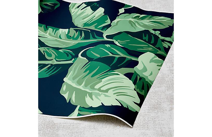 Nathan Turner Pacifico Palm Wallpaper, Indigo/Green
