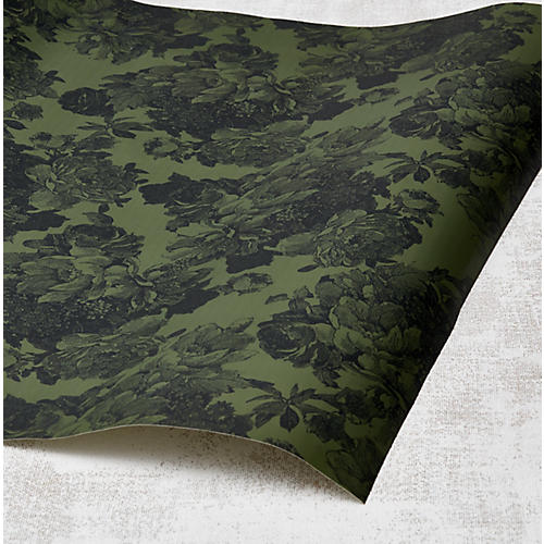 Barbara Ann Wallpaper, Army Green