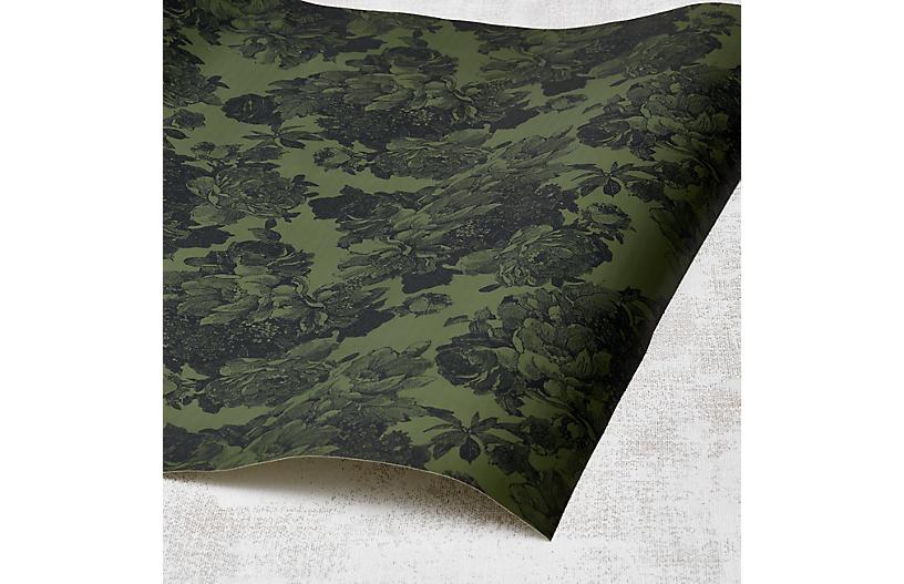 Barbara Ann Wallpaper, Army Green