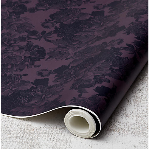 Barbara Ann Wallpaper, Aubergine