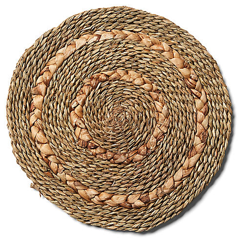 S/6 Braided Place Mats, Natural