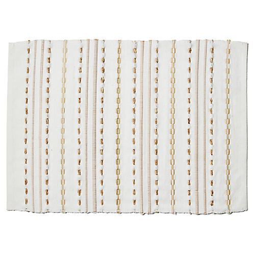 S/4 Essex Place Mats, White