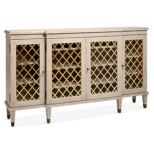 Gustavian Sideboard, Antiqued Gray