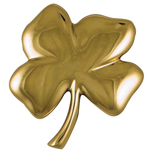 Four-Leaf Clover Door Knocker, Brass