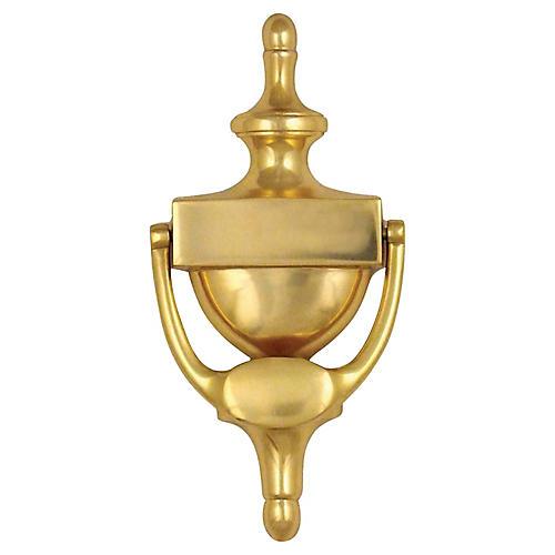 Traditional Urn Door Knocker, Brass