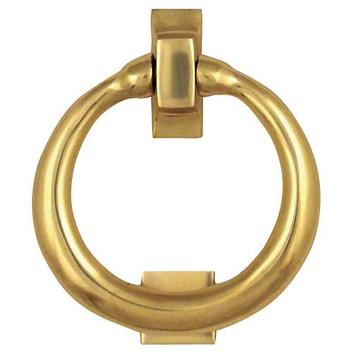 Ring Door Knocker, Brass