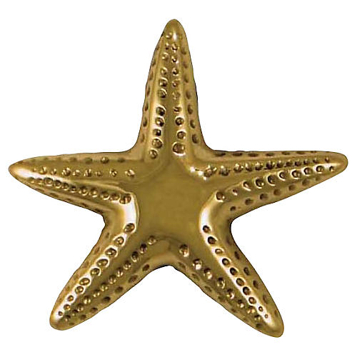 Starfish Doorbell Ringer, Brass