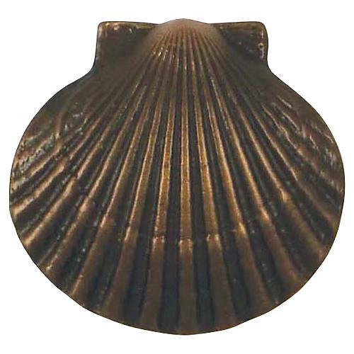 Bay Scallop Doorbell Ringer, Oiled Bronze
