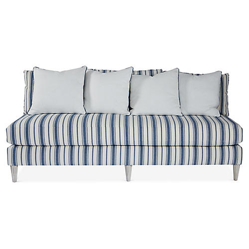 Pacific Heights Sofa, Blue Stripe