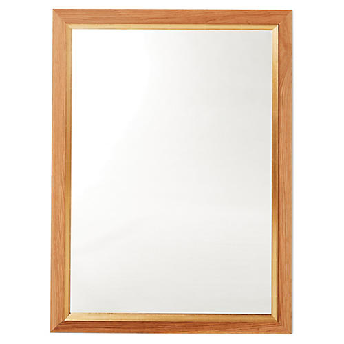 Kallie Wall Mirror, Natural/Gold