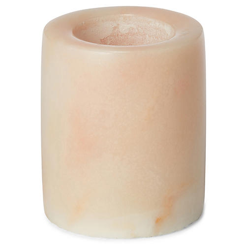 """4"""" Marble Small Candlestick, Pink"""