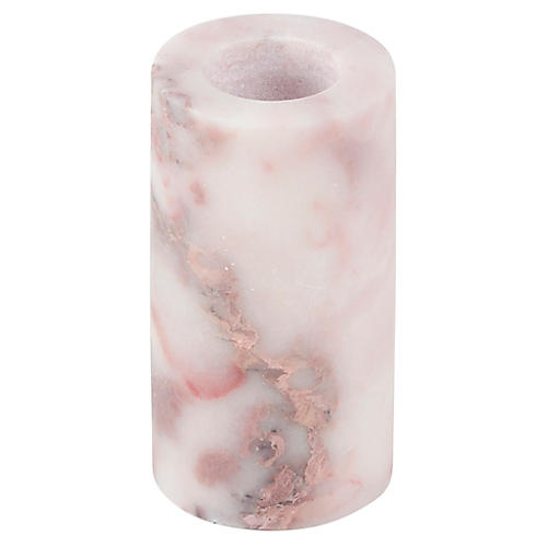 "2.75"" Marble Large Candleholder, Pink"