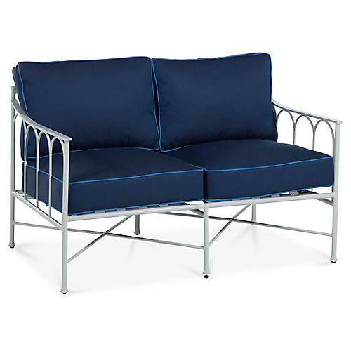 Celia Loveseat, Navy/Blue