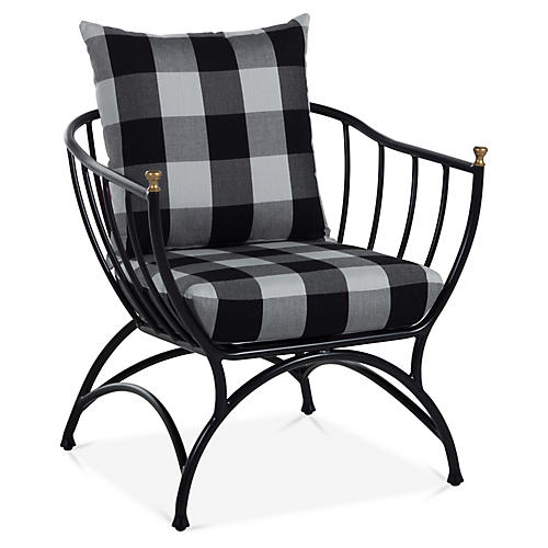 Frances Accent Chair, Gingham