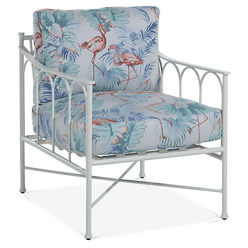 Celia Lounge Chair, Flamingo