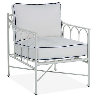 Celia Lounge Chair, White/Blue