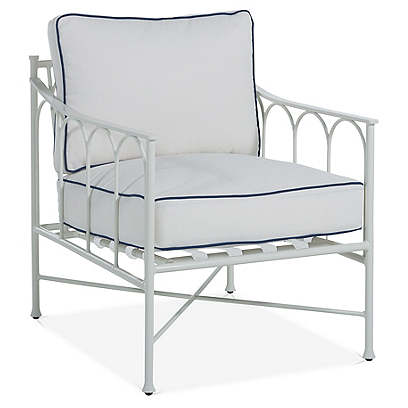 Celia Lounge Chair, White/Blue