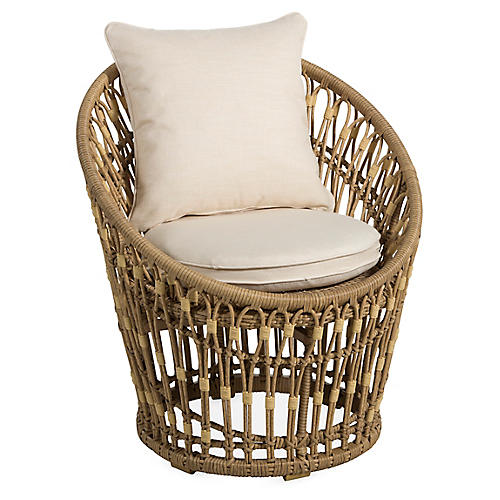Palma Wicker Chair, Natural